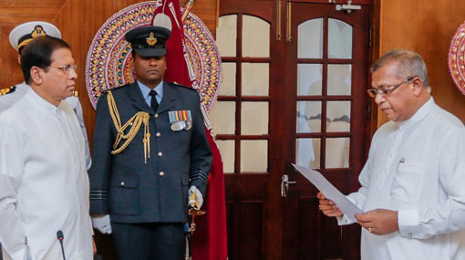 Ranjit Madduma Bandara sworn in as Law & Order Minister