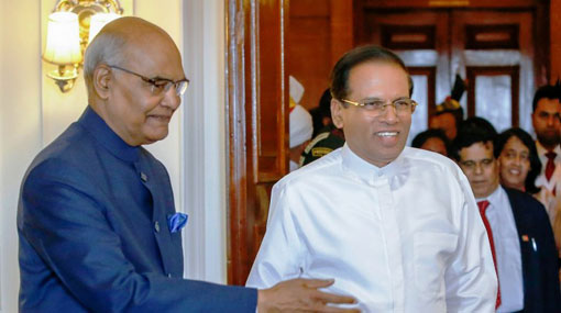 Sirisena able to deliver long term benefits to Sri Lanka - Indian President