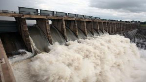 Eight spill gates of Parakrama Samudraya opened