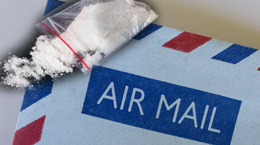 Two arrested after customs find cocaine in mail