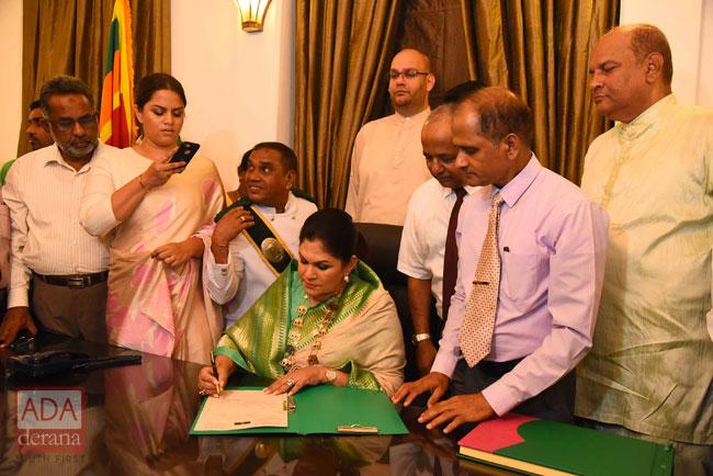 Colombo's first female Mayor Rosy Senanayake assumes duties