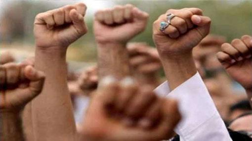 Peradeniya students protest against the arrest of Ryan Jayalath