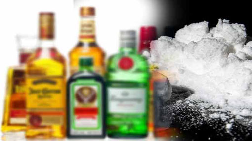 Container load of smuggled foreign liquor and illegal drugs seized