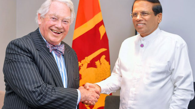 President thanks Lord Naseby for constant support to Sri Lanka