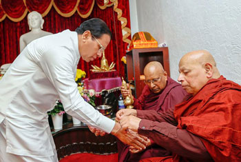President visits International Buddhist Centre in Kingsbury...