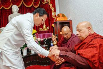 President visits International Buddhist Centre in Kingsbury...