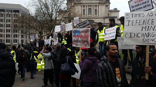 Pro-LTTE group protest against President in London