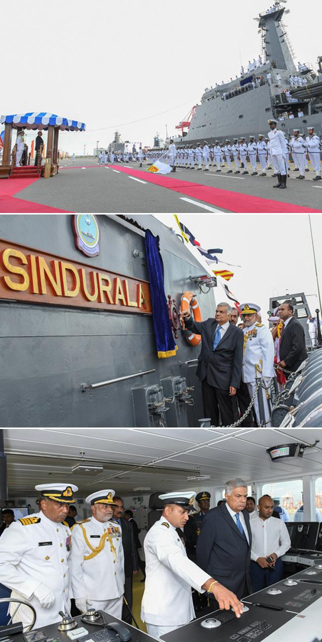 PM commissions Sri Lanka Navy's 2nd AOPV - 'Sindurala'