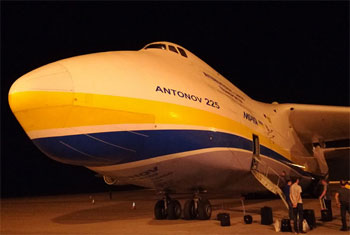 World's largest aircraft takes off...