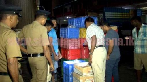 Police and fisheries officials raid Peliyagoda Fish Market