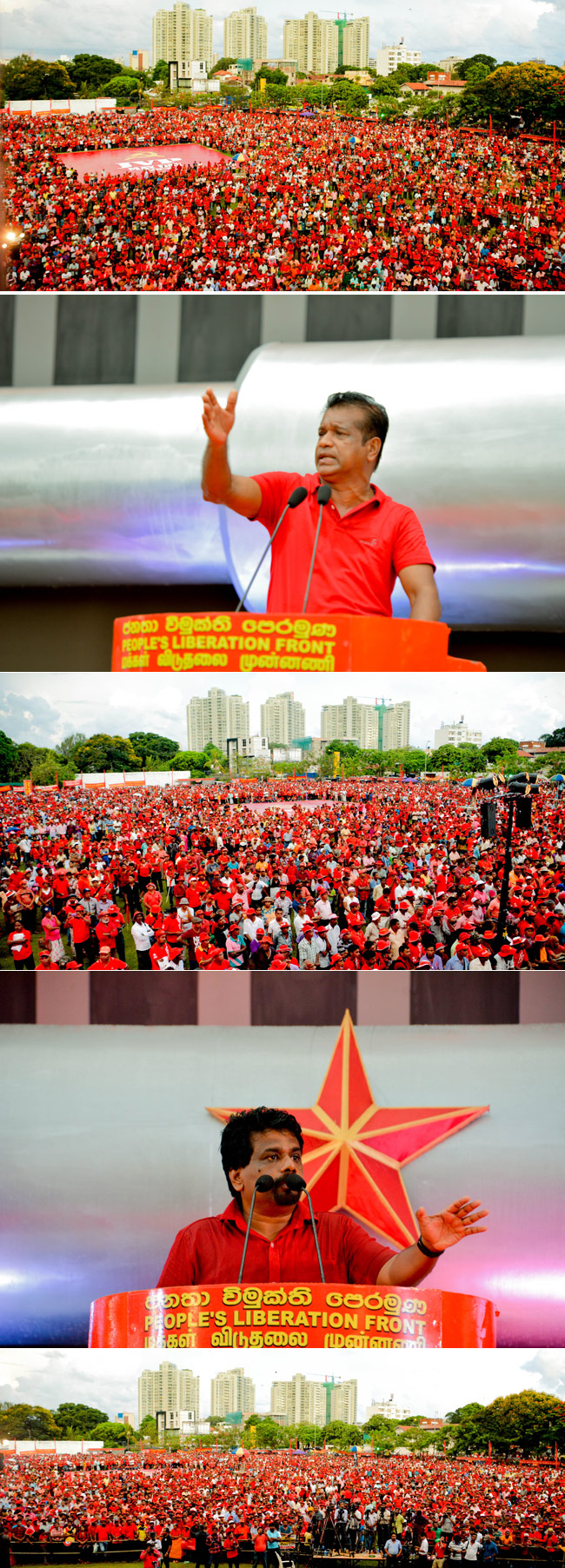 JVP May Day rally...