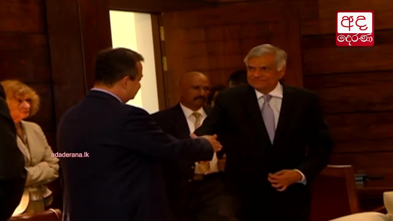 Serbian Deputy PM Ivica Dačić meets Sri Lankan PM