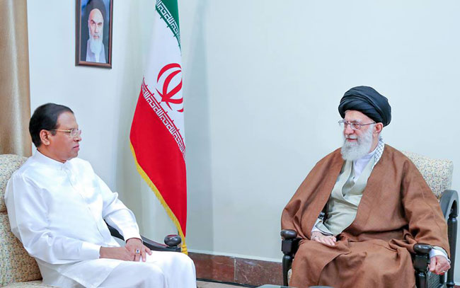President meets Supreme Leader of Iran...