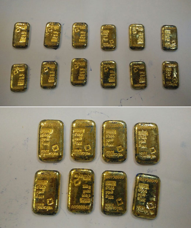 Two arrested with 20 gold biscuits in rectum