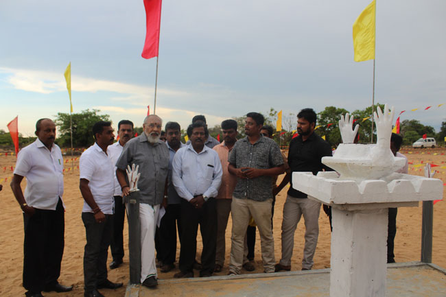 Wigneswaran inspects preparations for commemoration event in Mullivaikkal