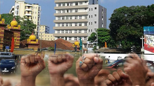 Ward Place blocked due to protest by ETI depositors