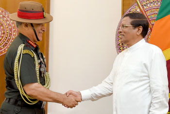 Indian Army Chief calls on President...