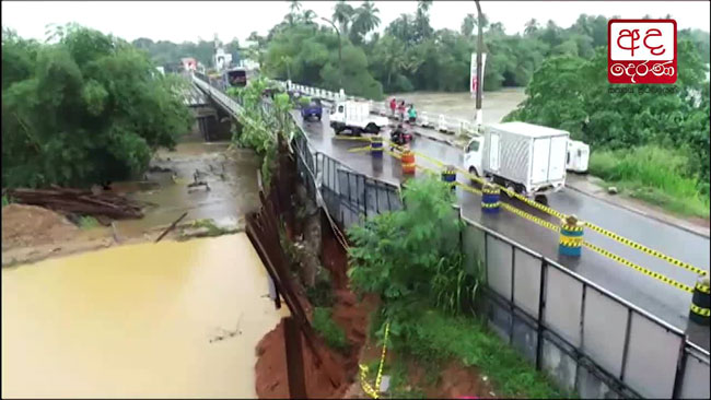 Bad weather delays repairs on Kaduwela-Biyagama Bridge
