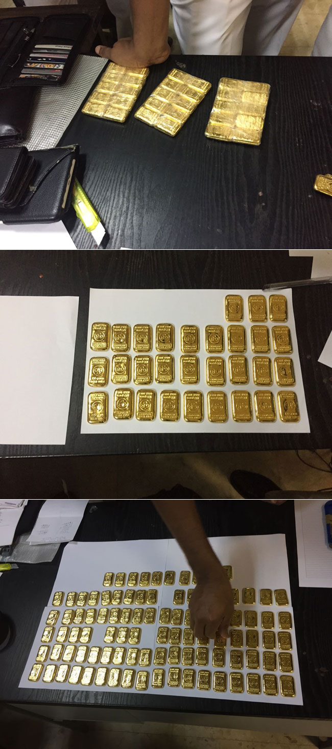 Polish man caught with 100 gold biscuits fined Rs. 5 million