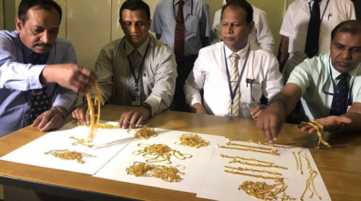 Businesswoman apprehended at BIA for smuggling in gold jewelry