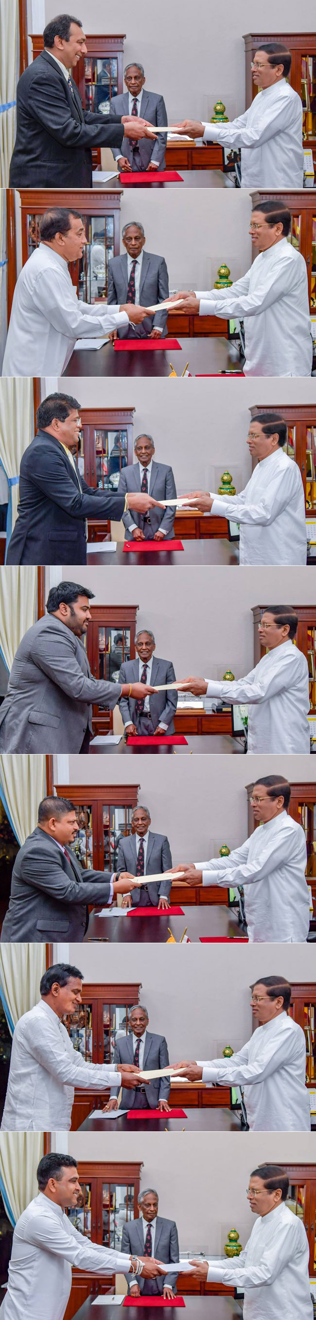 Two State Ministers and five Deputy Ministers sworn in