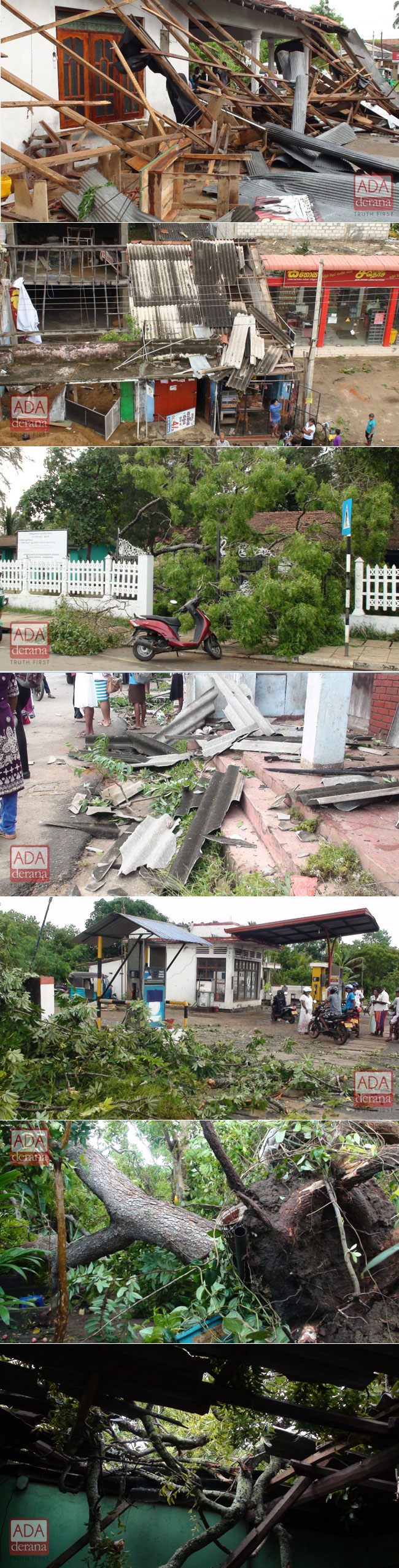 Strong winds cause havoc...