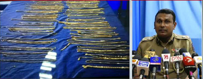 Part of jewellery stolen in Matara found buried in a garden