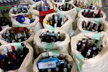 Hash, cannabis and booze seized...
