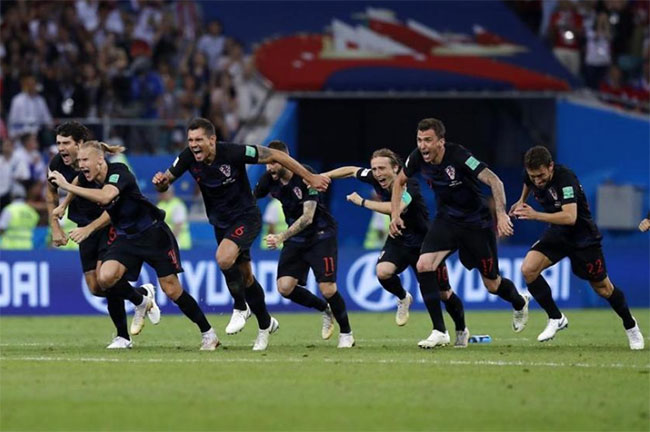 Croatia beats Russia on penalty kicks at World Cup