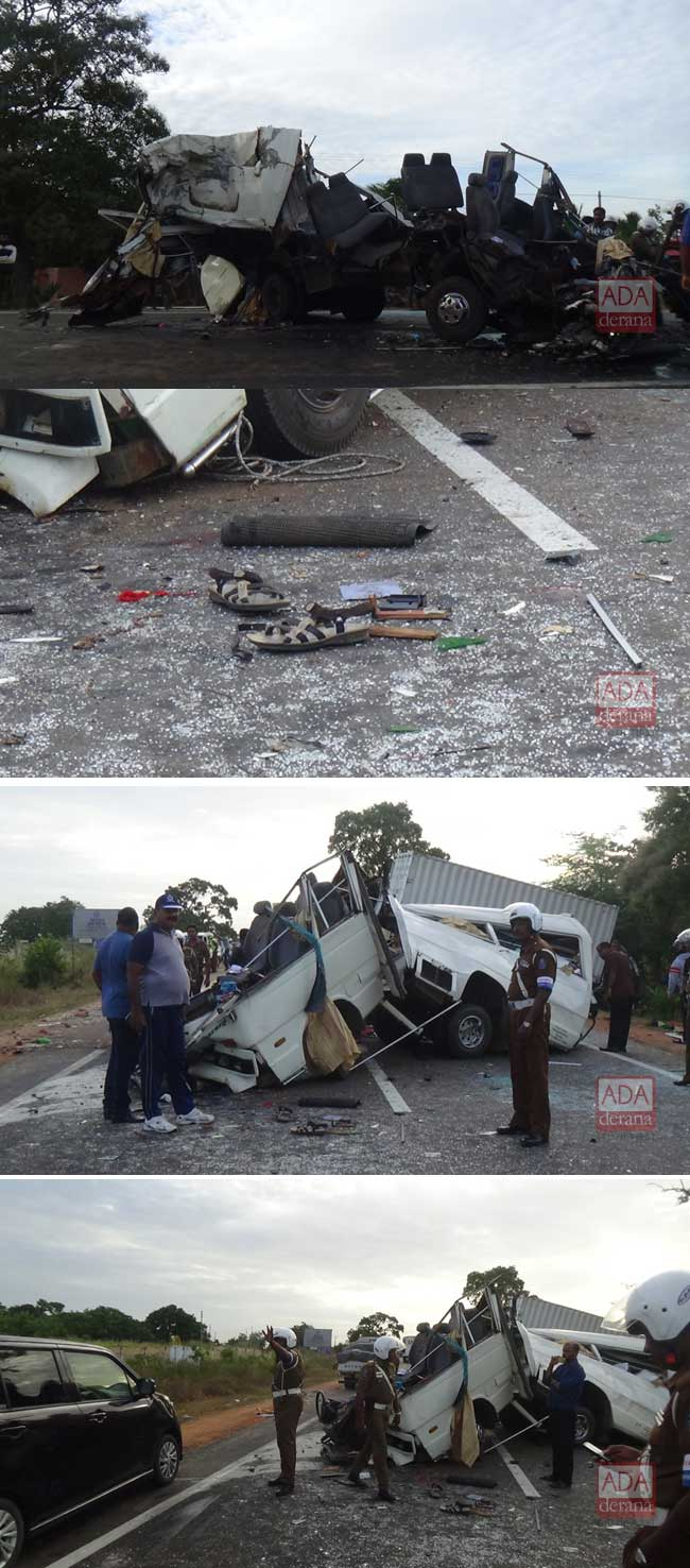 One dead, six injured in bus-lorry collision