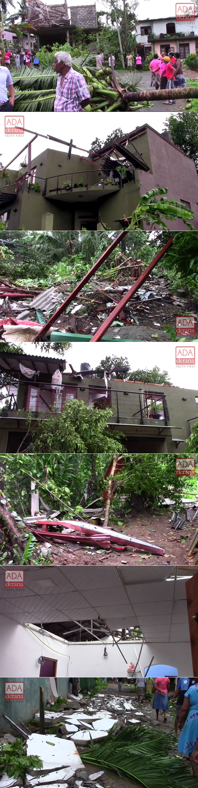 Strong winds damage over 150 houses in Colombo District