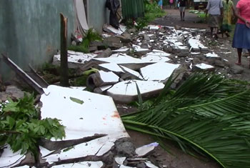 Over 150 houses damages by strong winds...