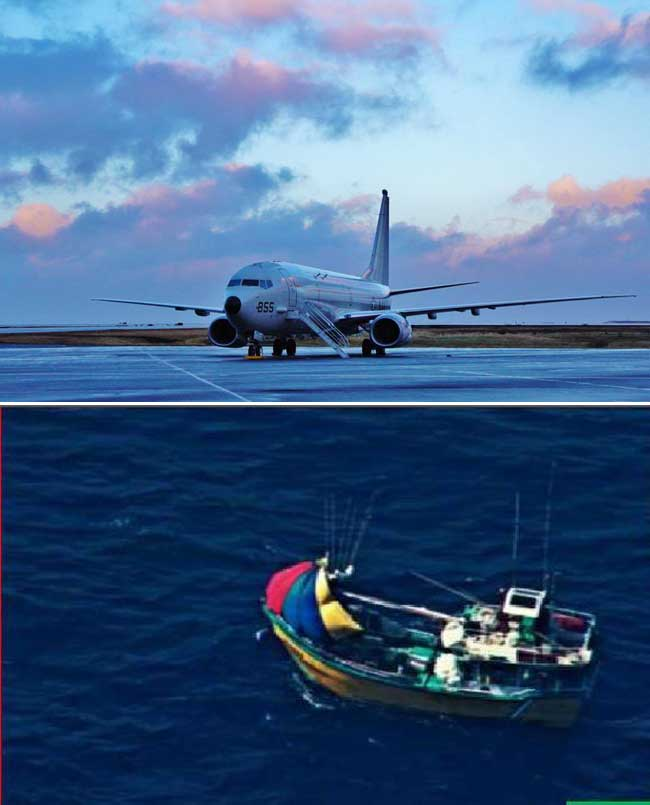 US Seventh Fleet aircraft locates missing SL fishermen