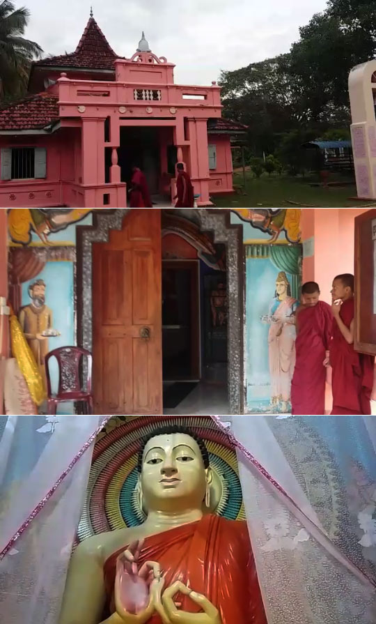 Thieves break Buddha statue at Temple and make off with treasures