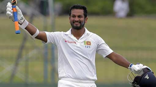 Dimuth Karunaratne scores his 8th Test century