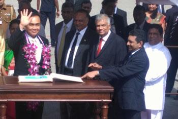 Thai PM in Sri Lanka...