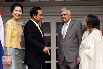 Thai PM meets Ranil Wickremesinghe...