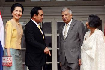 Thai PM meets Ranil Wickremesinghe...