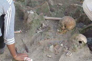Mannar mass grave...
