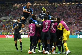 France crowned world champion after 4-2 win over Croatia