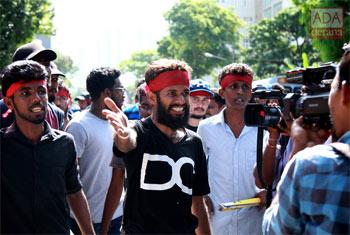 Rajarata Uni. students protest...