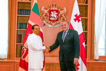 Sri Lankan, Georgian presidents meet...