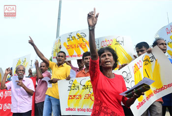 Protest against increasing taxes...