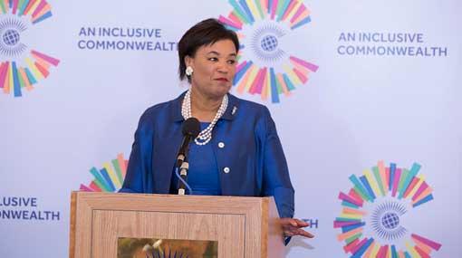 Commonwealth Secretary General Patricia Scotland arrives in SL