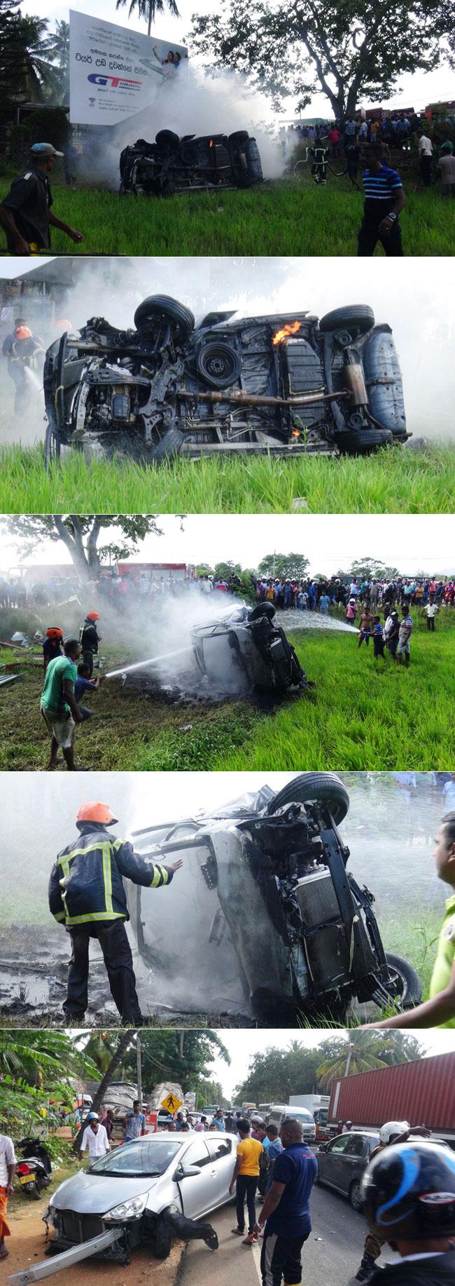 Accident in Dambulla...
