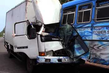 Bus-lorry collision…