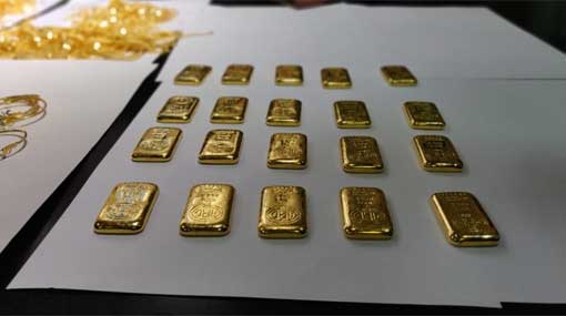Person arrested with gold biscuits worth Rs 13 million