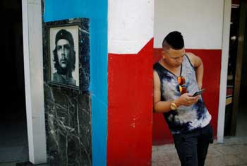 Cubans cheer as internet goes nationwide for 8 hours
