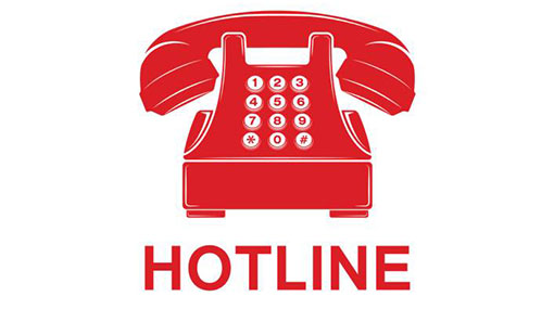 Hotline to inform any emergency due to adverse weather