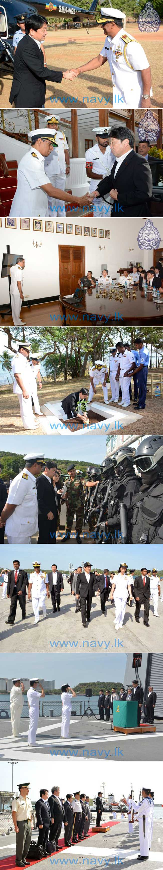 Japanese Minister of Defense visits Eastern Naval Command